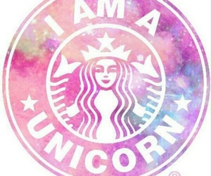 unicorn, starbucks, and pink image