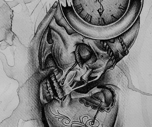 art, body art, and clock image