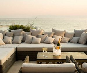 champagne, couch, and sea image