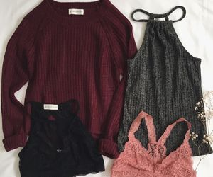 outfit, fashion, and knit image