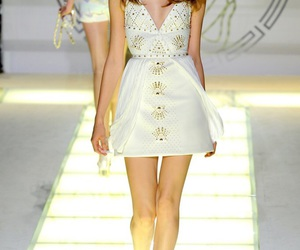 dress, Versace, and white image