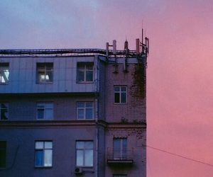 aesthetic, pink, and building image