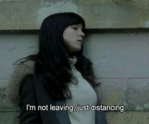 distance, quote, and leaving image