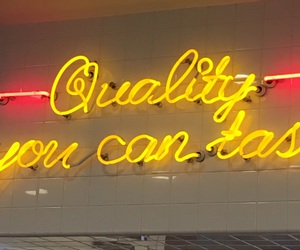 in-n-out, sign, and yellow image