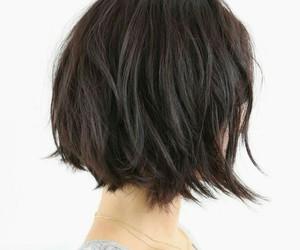 hair, hairstyle, and short hair image