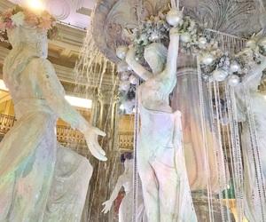 flower, statues, and odaiba image