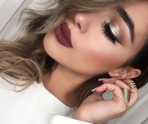 gold, perfect, and lips image