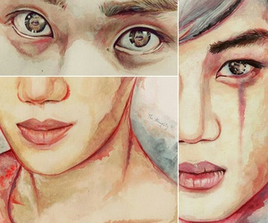 exo, watercolor, and kai image