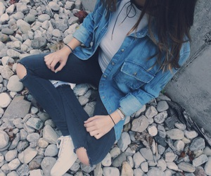 denim, fall fashion, and fashion image