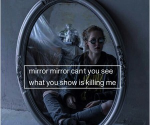 mirror, ugly, and quote image
