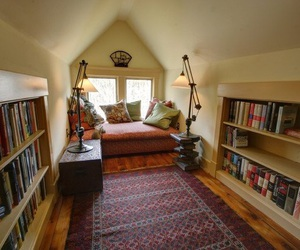 book, attic, and house image