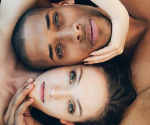 black, photography, and couple image
