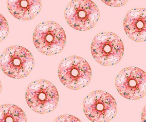 donas, background, and pink image