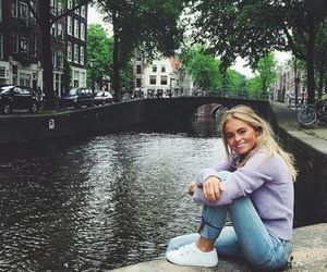 girl, travel, and amsterdam image