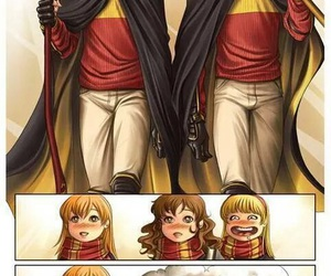 harry potter, ron weasley, and ginny weasley image