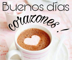 coffee, corazones, and frases image