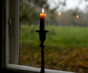 candle, oldfashioned, and candle holder image
