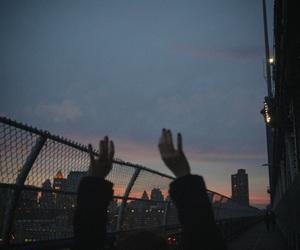 grunge, sky, and city image
