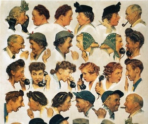 gossip and Norman Rockwell image