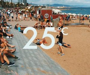 25, Barcelona, and beach image