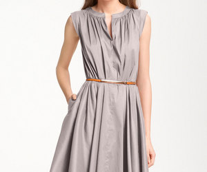 grey short summer dresses image