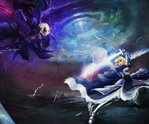 saber, fate zero, and fate stay night image