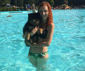 ginger, summer, and swimming image