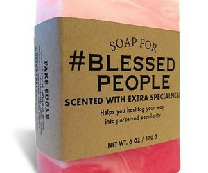 blessed, handmade soap, and funny image