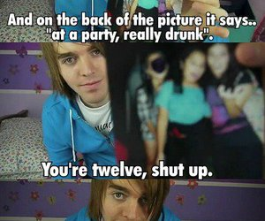 shane dawson, drunk, and funny image
