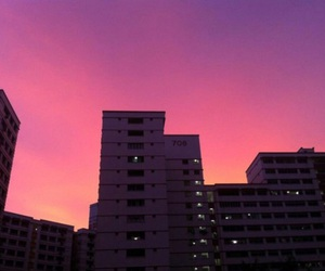 pink, sky, and city image