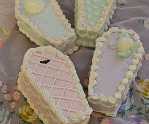 cake, coffin, and pastel image
