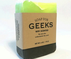 funny, geeks, and handmade soap image