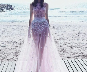 beach, fashion, and women image