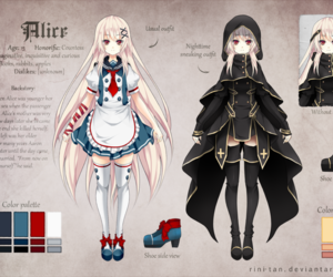 alice, anime, and reference image