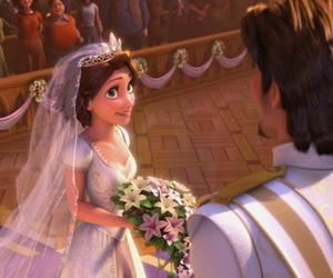 wedding, disney, and rapunzel image