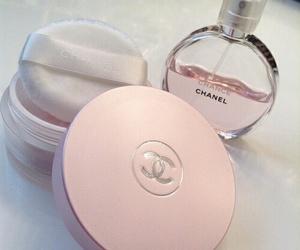chanel, pink, and perfume image