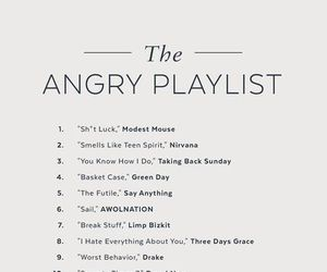 anger, angry, and playlist image