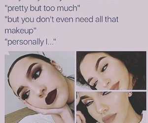 makeup, funny, and eyebrows image