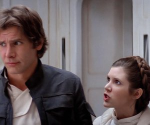 han solo, leia organa, and star wars image