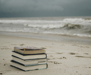 books, ocean, and sea image