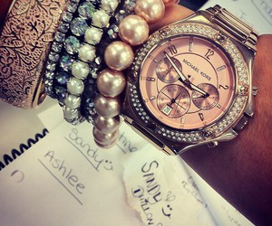 watch, bracelet, and Michael Kors image