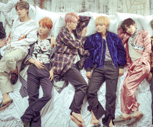 bts, kpop, and wings image