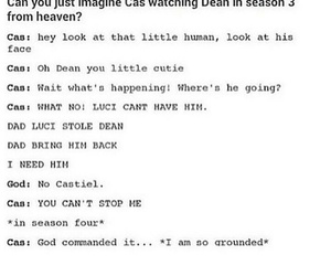 dean, funny, and god image