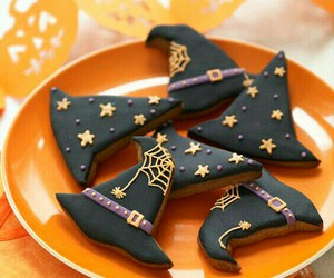 Halloween, Cookies, and witch image