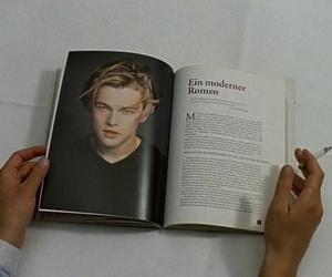 leonardo dicaprio, book, and grunge image