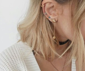 girl, accessories, and earrings image