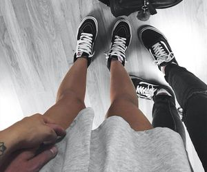 couple, vans, and goals image