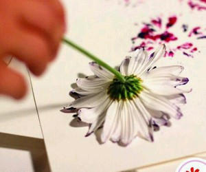 flowers, diy, and paint image