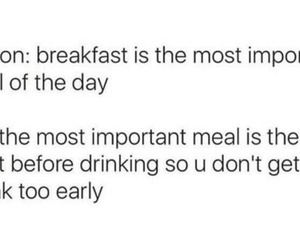 alcohol, breakfast, and drinks image