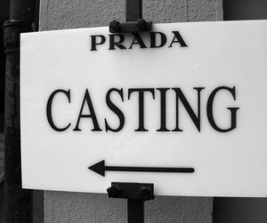 Prada, casting, and fashion image